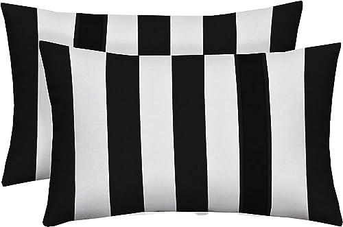 Resort Spa Home Decor Set of 2 Indoor/Outdoor Decorative Lumbar/Rectangle Pillows
