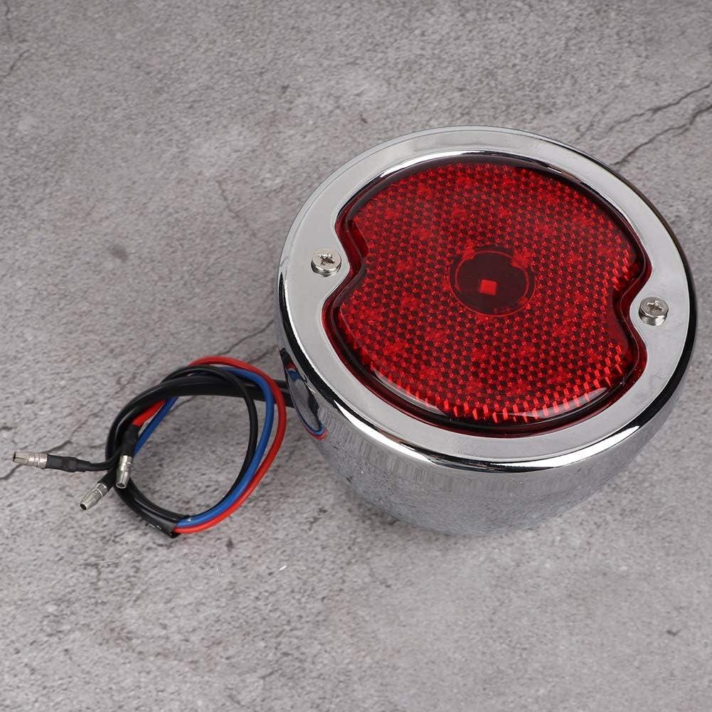 Universal Motorrad Retro Convex Lens Aluminium LED R/ücklicht Bremslicht Bremslicht Outbit R/ücklicht Montage