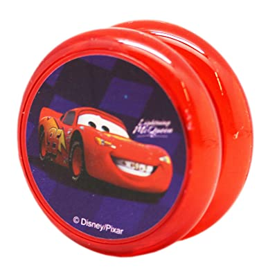 Disney Pixar's Cars Lightning McQueen Purple Background Red Kids Yo-Yo: Toys & Games