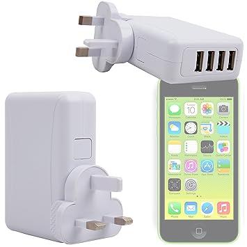 DURAGADGET Enchufe/Cargador De Pared Para Apple iPhone 5C ...