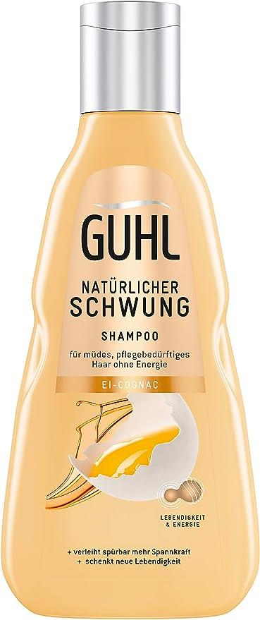 Guhl - Champú de impulso natural, con huevo y coñac, contiene proteínas y lecitina, fortalece el cabello, 250 ml