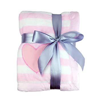 Thick Kids Fleece Blanket, Plush Flannel Throw for Girls /Boys, Extra Soft /Warm /Cozy, Anti-pilling, Reversible& Easy Care Pink Heart