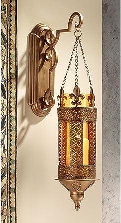medieval castle hanging pendant light wall sconce candle holder lantern