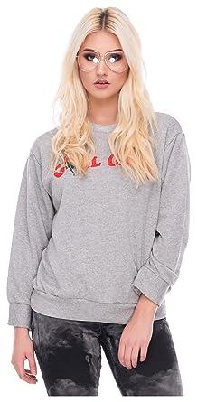 9e838e7577f693 Loomiloo Damen Sweater Sweatshirt Pullover Pulli Hipster Blogger Style  Frontprint Girl Gang: Amazon.de: Bekleidung