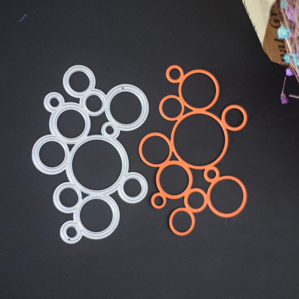 Maserfaliw Cutting Dies Stencils Multi Circles for Card Making Scrapbooking Craft