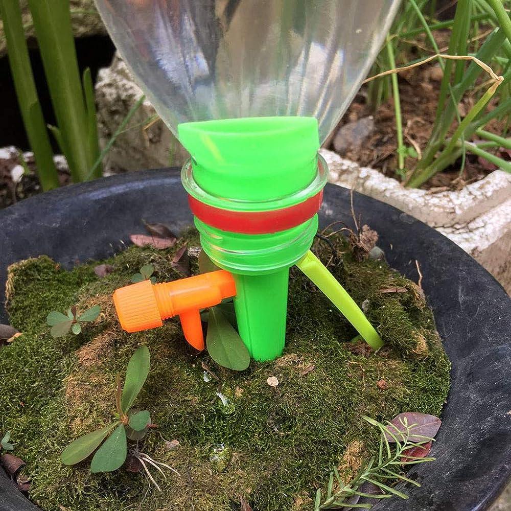 Dispositivo De Riego por Goteo Automático Sistema De Riego para Jardín Parariego De Irrigación Riego para Interior Y Exterior De Jardín Herramientas De Jardinería para Plantas (Naranja 10pcs): Amazon.es: Ropa y accesorios
