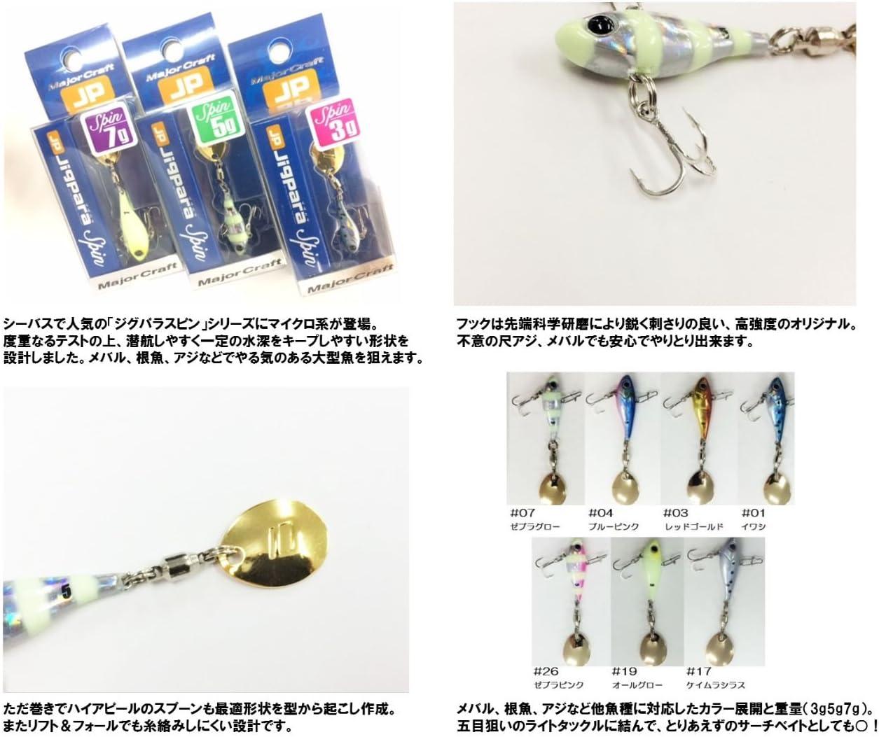 Major craft 18g 1 sardine JPSPIN-18g lure metal jig Jigupara spin JAPAN