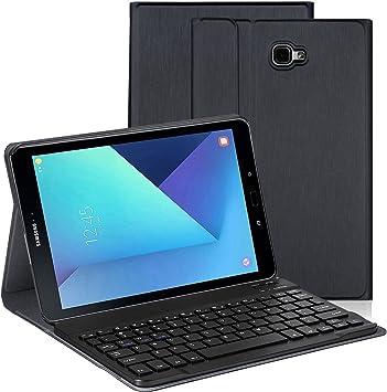 Teclado Bluetooth con funda para Galaxy Tab 10.1 HowiseAcc con apoyo magnético. Tabletas T580N/T585N