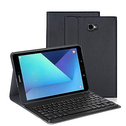 Funda Teclado para Samsung Tab A 10.1, Funda Protectora con Teclado Inalambrico QWERTY para Samsung GalaxyTab A 10.1(T580/T585), Negro: Amazon.es: ...