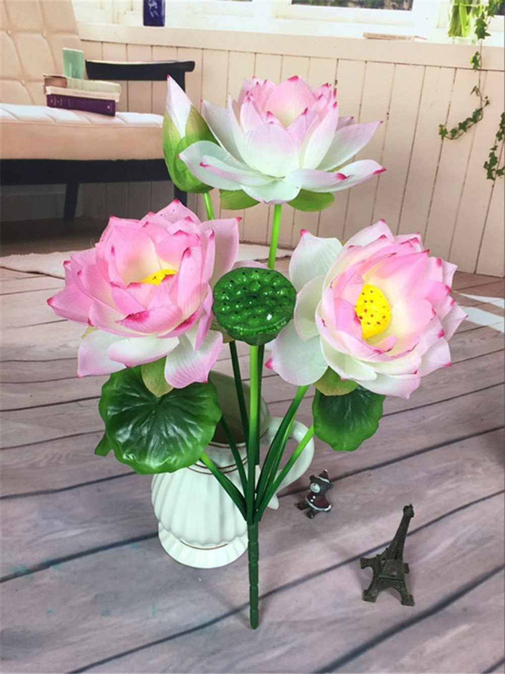 Uhmei Artificial Lotus Flower Living Room Decoration Outdoor Flower