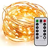 Kohree Guirlande Lumineuse LED à pile 60 LED 6M Guirlande Lumineuse avec télécommande Fil cuivre