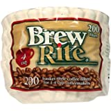 Brew Rite NA 4 Cup Coffee Basket Disposable Filters 200 ct
