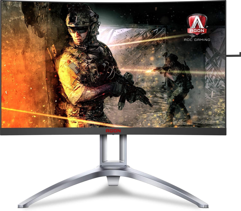 AOC Agon AG241QX Monitor de Videojuegos de 24 Pulgadas, QHD 1440P, Compatible con G-Sync + Adaptive-Sync: Amazon.es: Electrónica