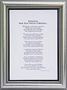 Now That You're A Mother Poem Keepsake
