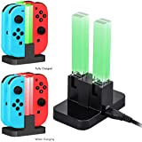 Xcellent Global 4 in 1 Charging Dock for Nintendo Switch Joy-Con, Charge Stand with Indicator Light HG257
