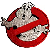Ecusson - Ghostbuster Comic enfants Film - rouge - Ø7,5cm -patches brode appliques embroidery thermocollant