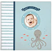 Carter's Blue Nautical My First Years Loose Leaf Memory Book for Baby Boys, 10  W x 11.75  H, 64 Pages