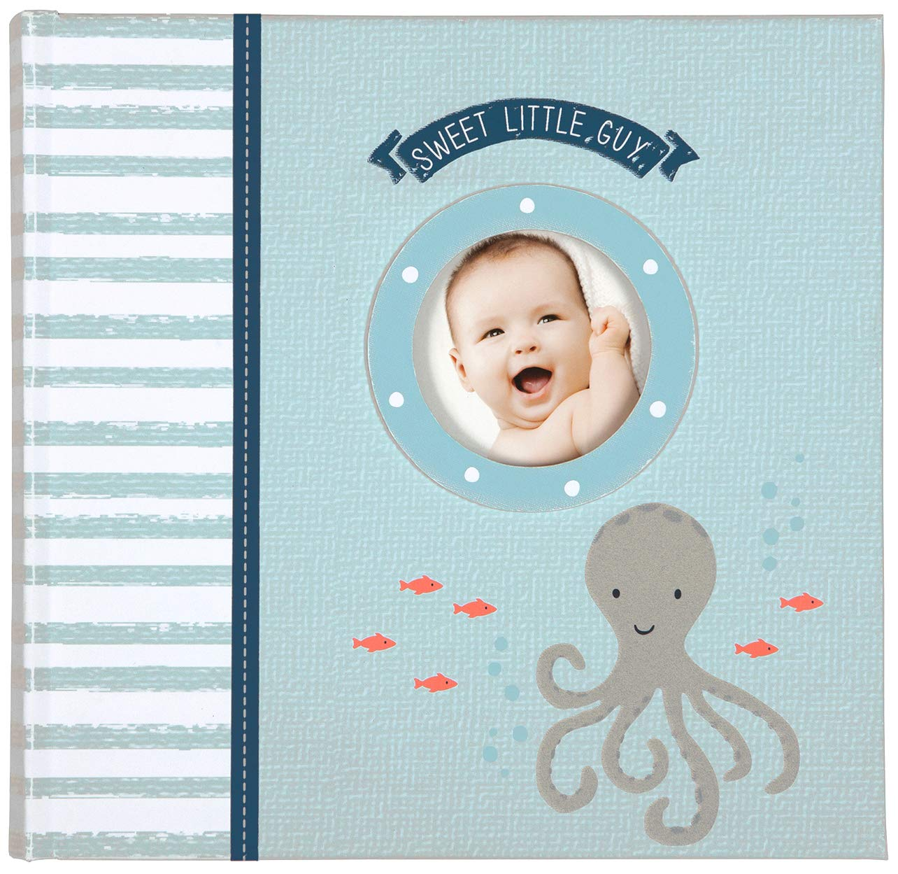 Carter's Blue Nautical My First Years Loose Leaf Memory Book for Baby Boys, 10'' W x 11.75'' H, 64 Pages
