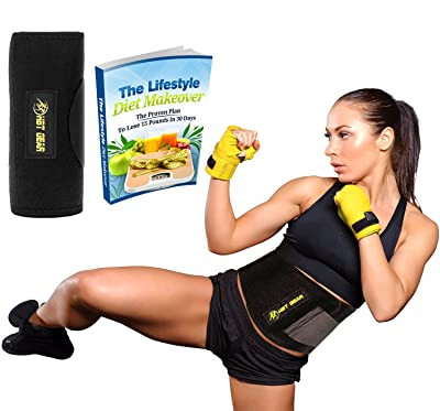 HBT Gear Waist Trimmer Ab Belt Includes Free Carrying Bag