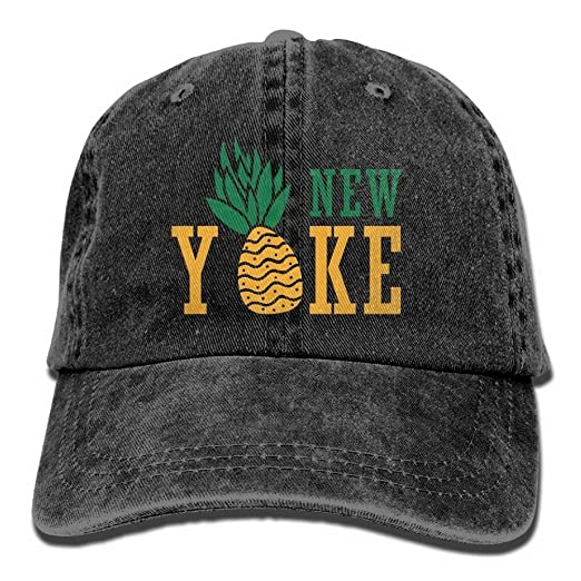 Amazon.com  KPSheng Pineapple New York Caps Unisex Adult Adjustable ... 449a8b8d23