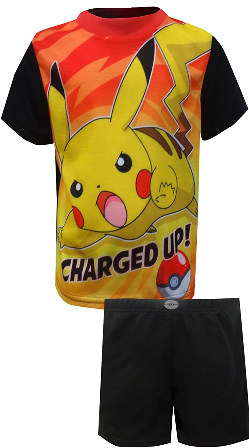 AME Sleepwear Pokemon Pikachu Charged up Pajamas for Little Boys PK136BSS