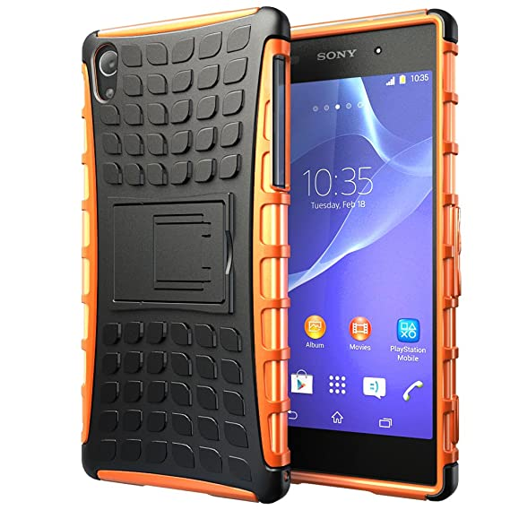 competitive price f01d5 640a1 Hyperion Explorer 2-piece Premium Hybrid Protective Case / Cover for Sony  Xperia Z2 (SO-03F) Cell Phone (Fits all Sony Xperia Z2 US and International  ...