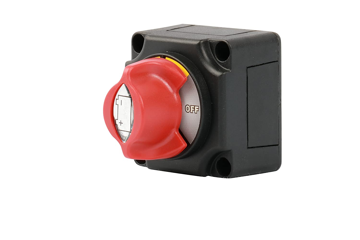 WirthCo 20387 Battery Doctor Mini Master Rotary Dial Disconnect Switch with On//Off Knob and Bottom Cover