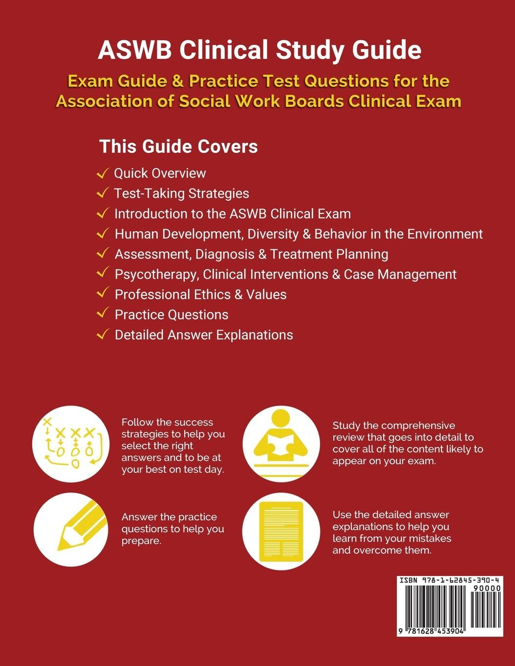 ASWB Clinical Study Guide: Exam Review & Practice Test Questions for the  Association of Social Work Boards Clinical Exam: Test Prep Books:  9781628453904: ...
