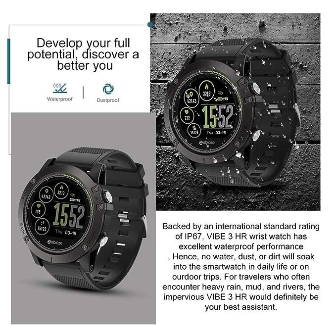Amazon.com: Smartwatch,Zeblaze Vibe 3HR 1.22 Inch IPS Smart ...