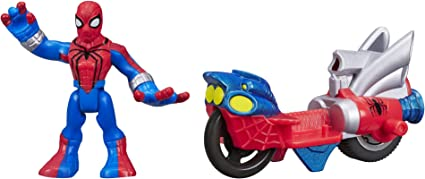 """4/"""" Marvel Spider-Man Motorcycle Rider Action Figure Loose"""