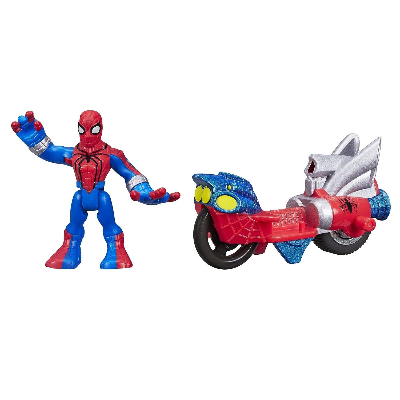 Playskool Heroes Marvel Super Hero Adventures Spider-Man Figure with Web Racer Vehicle Hasbro A7426000