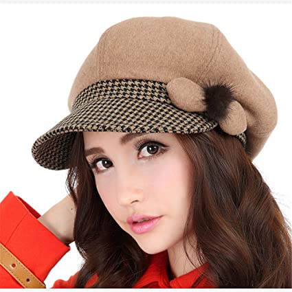dadae1a4f0459 Image Unavailable. Image not available for. Color  BTBTAV Autumn Winter  Fashion Women Women Beret Lady hat Warm Pumpkin hat Children ...