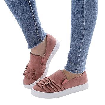 Zapatos Mujer,Sonnena Zapatillas de Deportiva Slip on Huecos Sneakers para Caminar Walking Calzado Malla Transpirables Loafer Ligeros Mocasines Verano: ...
