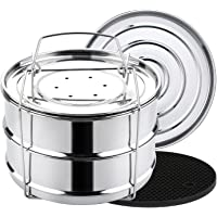 Aozita Stackable Steamer Insert Pans with Sling for Instant Pot Accessories 6/8 qt - Pot in Pot, Baking, Casseroles…