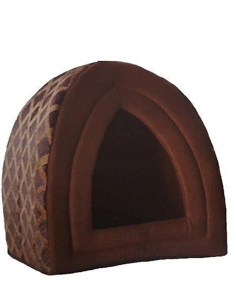 Cama Sady para mascotas, con forma de iglú, diseño acolchado, bien aislada,