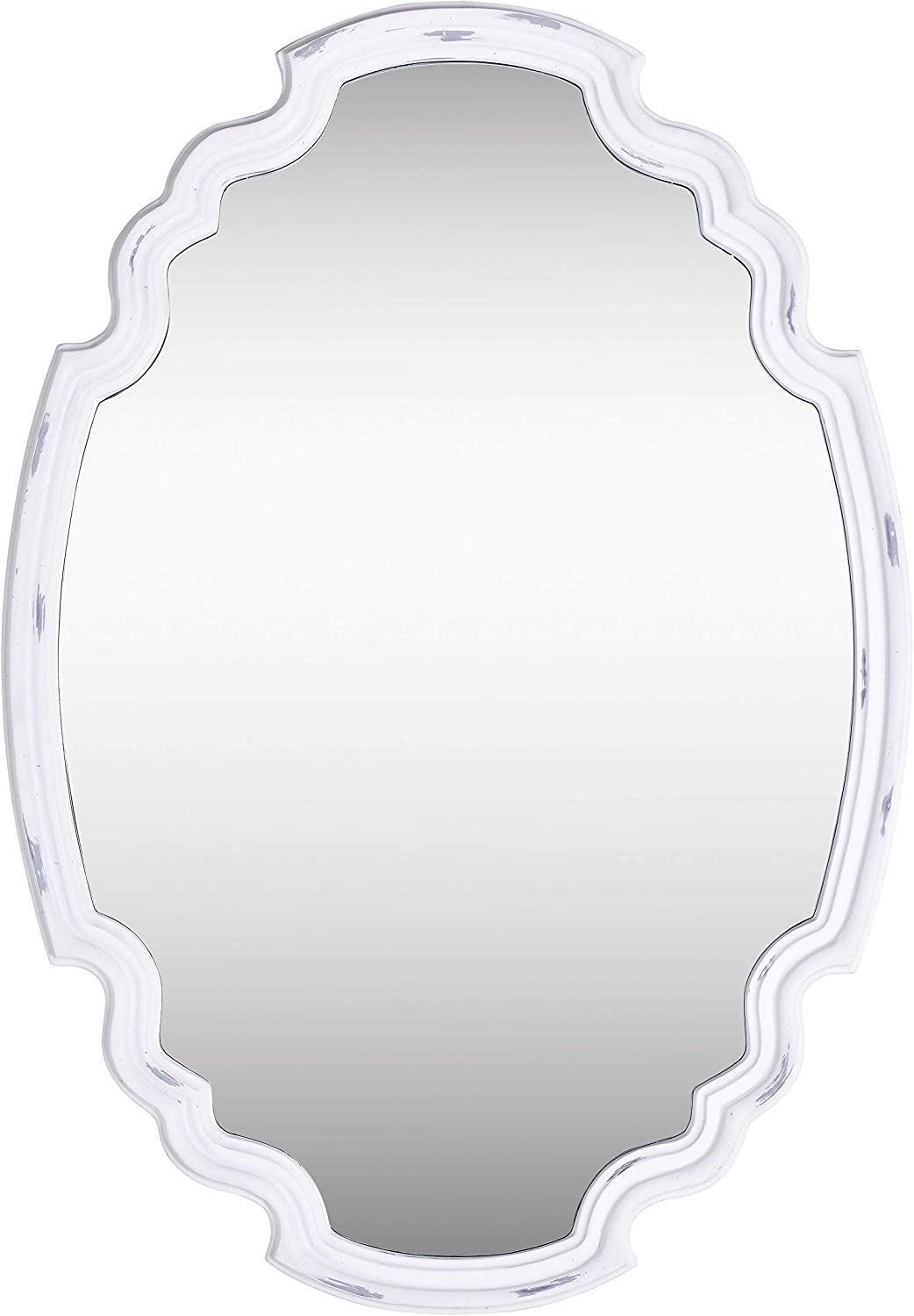 Kenroy Home Rustic Wall Mirror ,24.5 Inch Height, 35.5 Inch Width, 1.5 Inch Ext with Antique White Finish