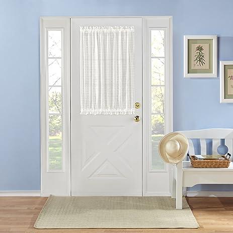 RENAISSANCE HOME FASHION MONTAUK Novelty Sheer Door Panel With Tieback,  53u0026quot; X 40u0026quot;