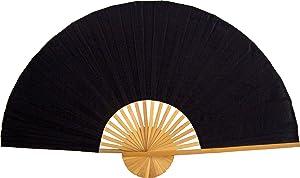 """Large 60"""" Folding Wall Fan - Solid Black Unpainted - Original Wall Fan"""