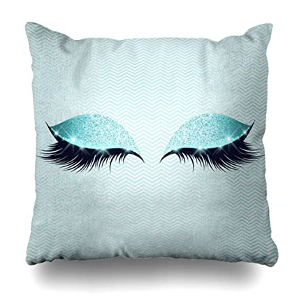Amazon Suesoso 40X40 Two Sides Printed Soft Cotton Blue Gorgeous Tiffany Blue Decorative Pillows