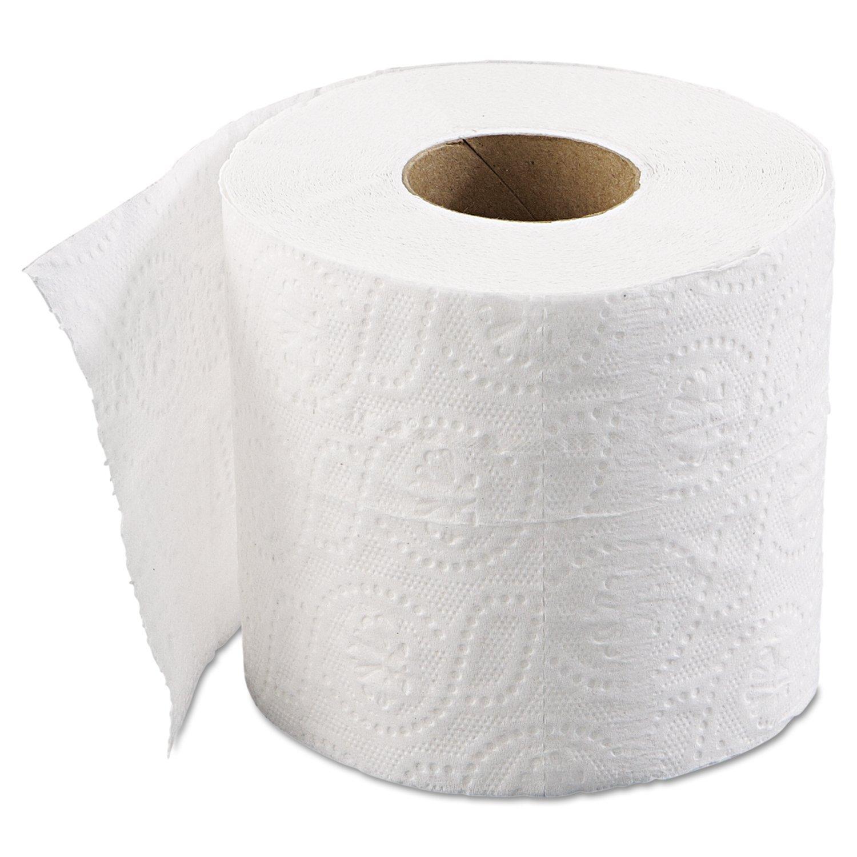 Boardwalk 6145 Bathroom Tissue, Standard, 2-Ply, White, 4 x 3 ...