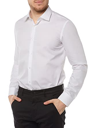 boss hugo herren hemd c jenno slim fit langarm amazon de bekleidung  Kleidung Businesshemd C 10_28 #2
