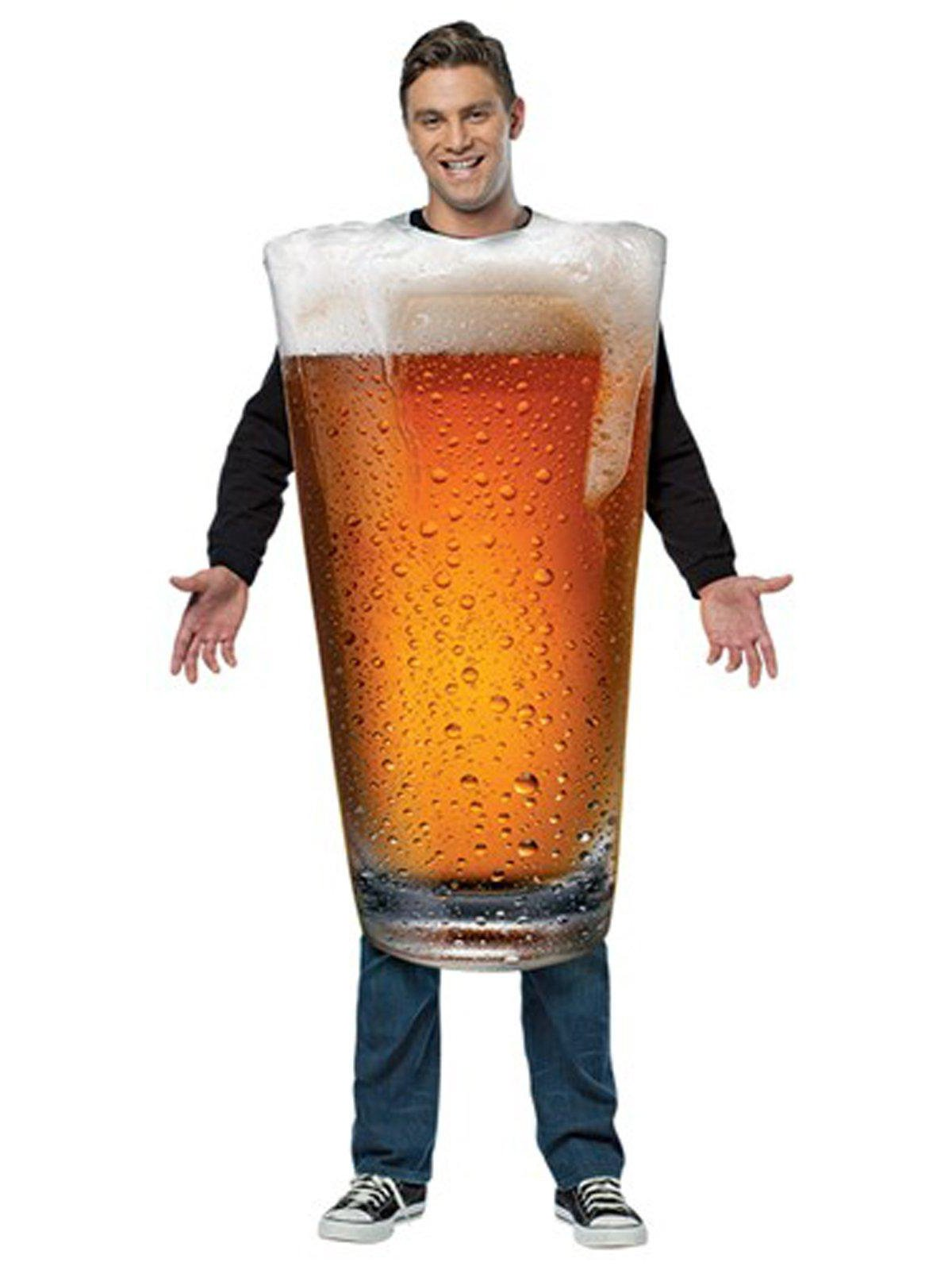 Rasta Imposta Men's Get Real Beer Pint, Gold, One Size