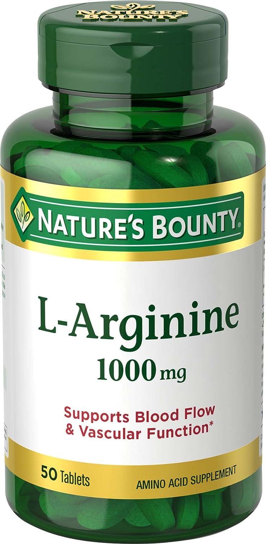 Nature's Bounty L-Arginine 1000 mg, 50 Tablets