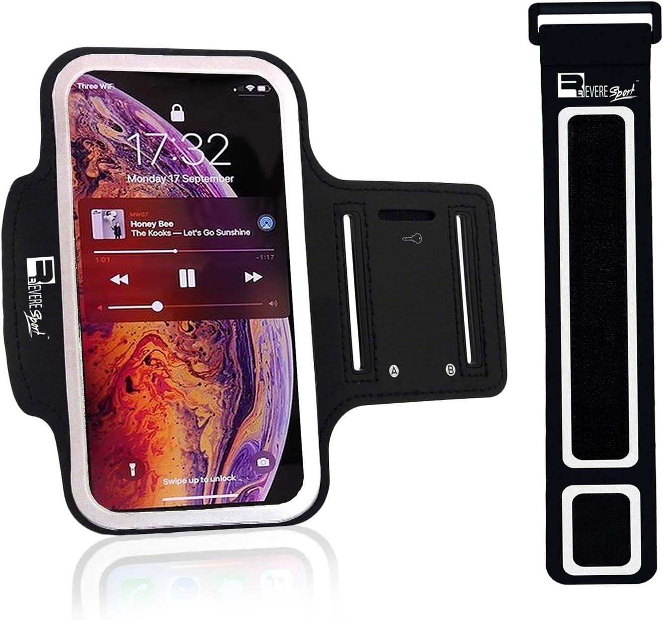 RevereSport Brazalete Deportivo iPhone 11/11 Pro MAX/XS MAX. Armband de Teléfono para Running, Jogging, Turismo, Ciclismo, Funda Caso de Ejercicio: Amazon.es: Electrónica