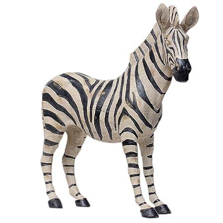 European Elegant Faux Vintage Resin Zebra Carving Handicrafts