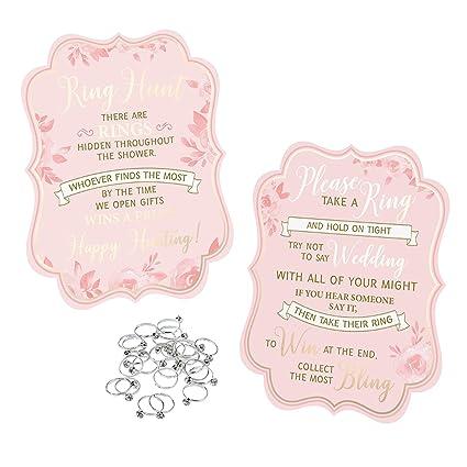 lillian rose bridal shower game 25 rings