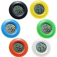 ZHITING 6-pack mini hygrometer termometer fahrenheit eller Celsius digital LCD-skärm inomhus rum rund luftfuktighet…
