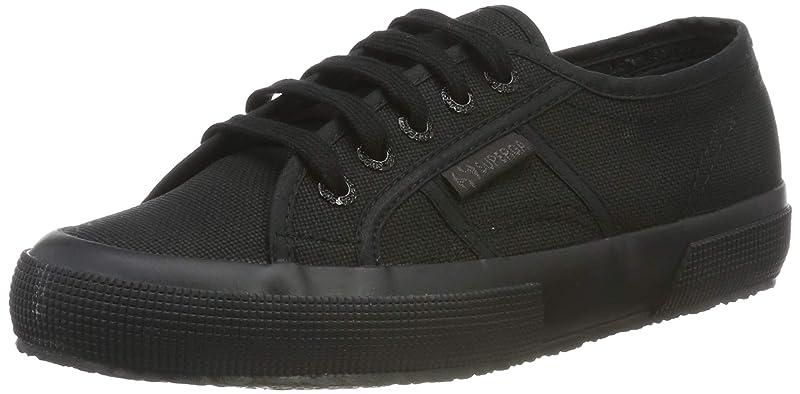Superga 2750 Cotu Classic Sneakers Low-Top Unisex Damen Herren komplett Schwarz