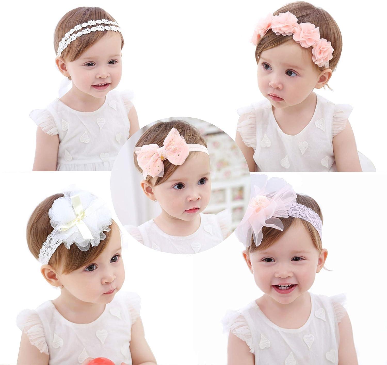 45 Pcs Headband Baby Toddler Girl Headwear Hair Bow Accessories-- 4 STYLES