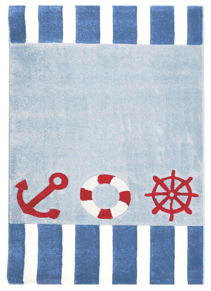 Livone Kinderteppich Happy Rugs AUF HOHER SEE 4 blau 160 x 230cm